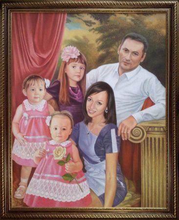 Семейный портрет маслом в Магнитогорске — правильная традиция…