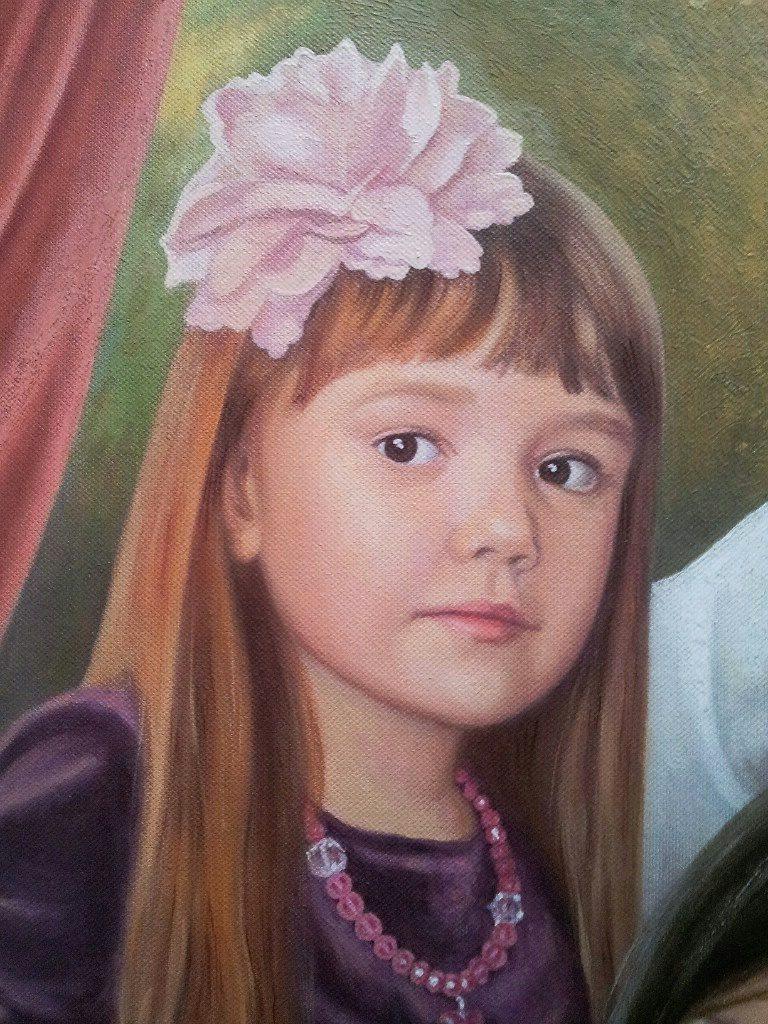 Семейный портрет на холсте Магнитогорск