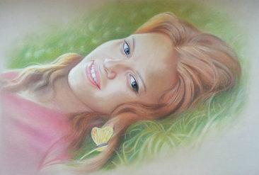 Настоящий портрет пастелью для любимой девушки в Магнитогорске, просто и со вкусом!