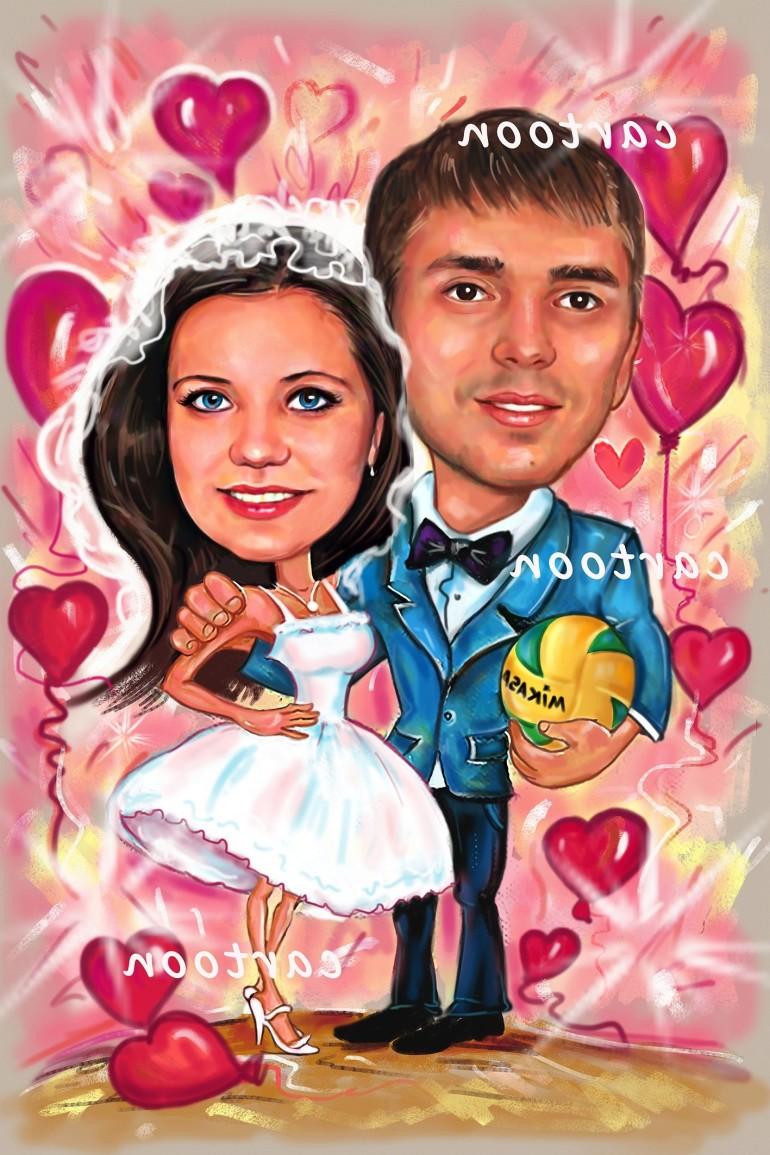 Свадебный шарж с оригинальным сюжетом в Магнитогорске!
