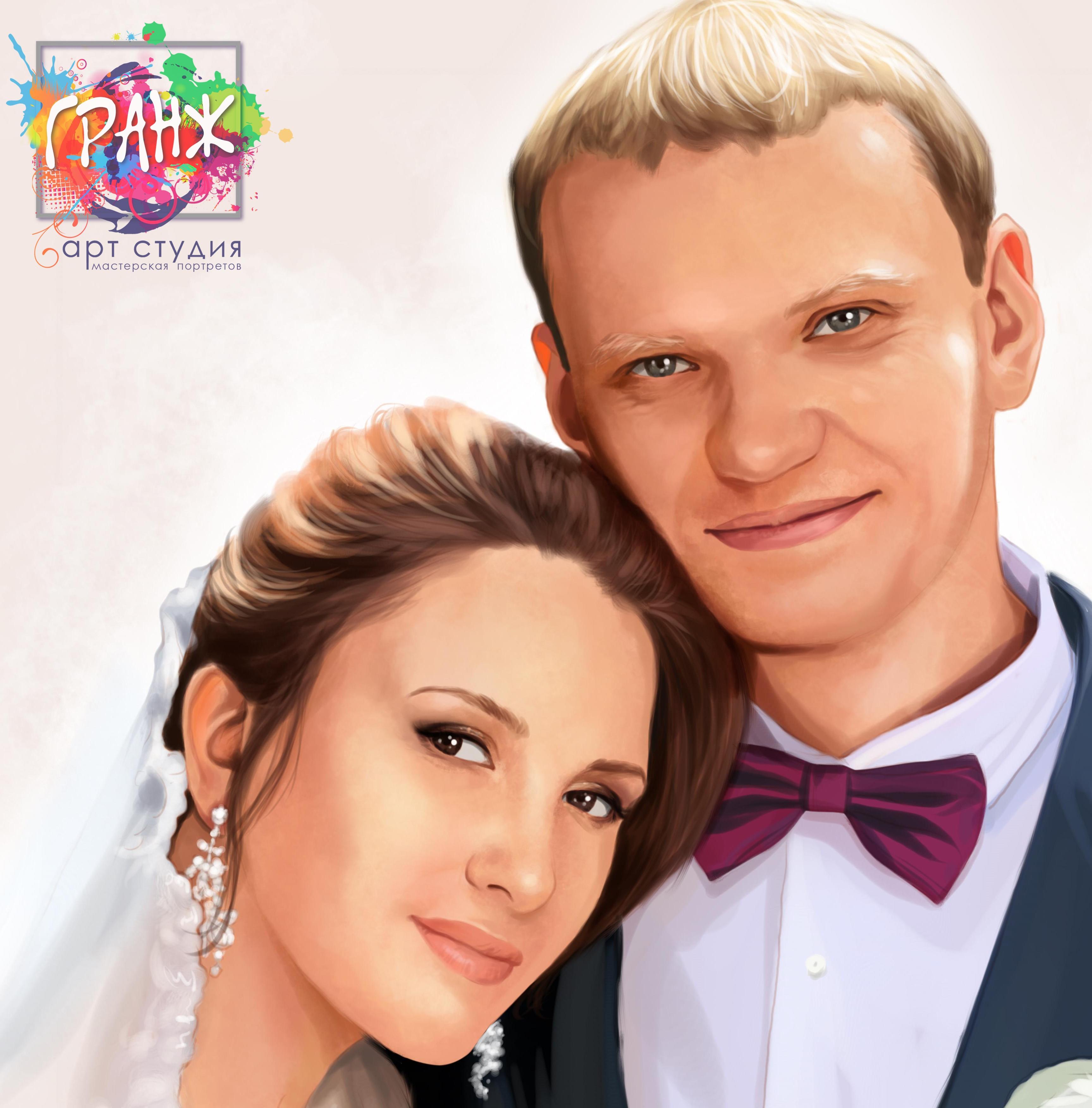 свадебный портрет на заказ