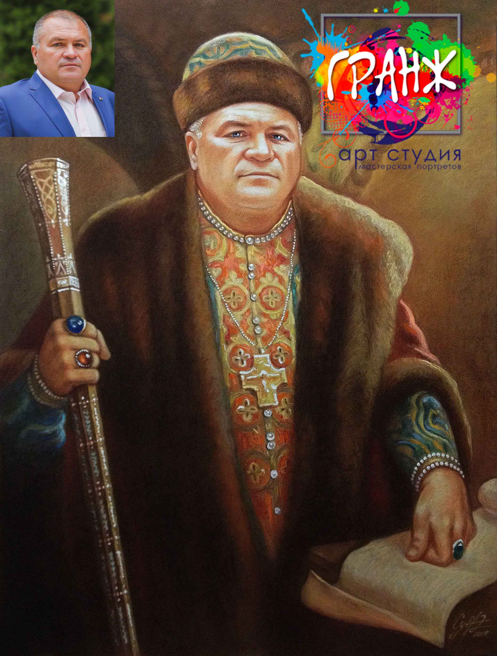 Заказать портрет маслом по фотографии в Магнитогорске