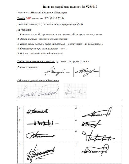 Разработка личной подписи онлайн Магнитогорск